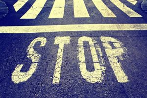 Vintage stop street sign