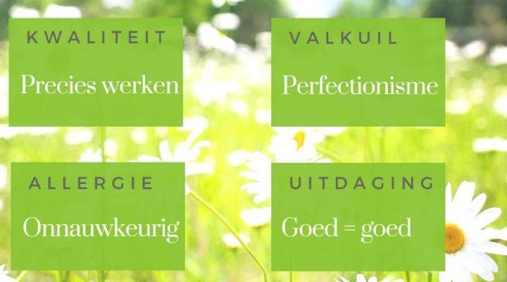 perfectionisme perfectionistisch minder stress