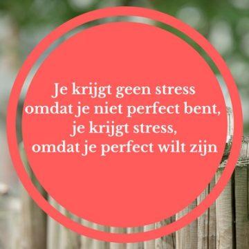 perfectionisme en stress. burn-out