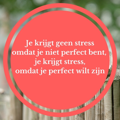 perfectionisme en stress. burn-out