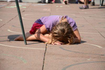 huilend meisje met faalangst