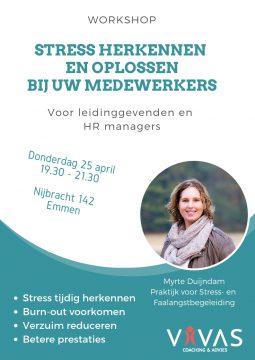 workshop voor leidinggevenden burnout beter voorkomen dan genezen