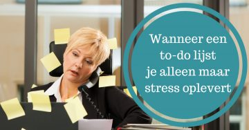 tips omgaan to do lijst stress burnout planning