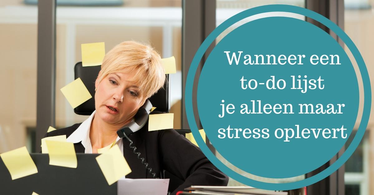 tips omgaan to do lijst stress burnout planning